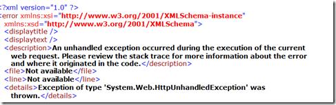 Problem XML